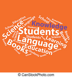 Text cloud. Education wordcloud. Typography concept. Vector...