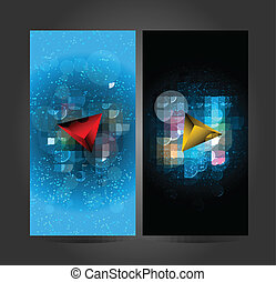 Abstract colorfu 3D triangle - Abstract colorful 3D triangle...