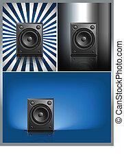Black Loud Speaker Isolated
