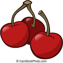 Cherries - Illustration of some cherries on white background...