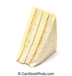 sandwich with ham and cheese isolated on white background