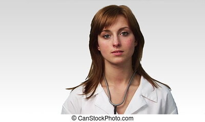 Potrait of a Doctor in HD - Portrait of A doctor looking at...