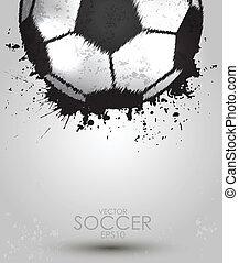 soccer ball on white background, vector illustration