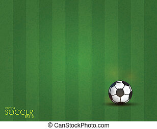 soccer ball on the field background, vector illustration