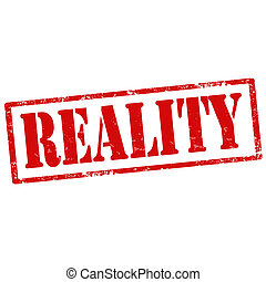 Reality-stamp - Grunge rubber stamp with text Reality,vector...