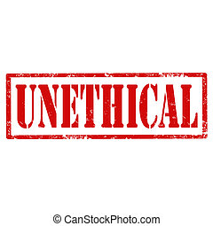 Unethical-stamp - Grunge rubber stamp with text...