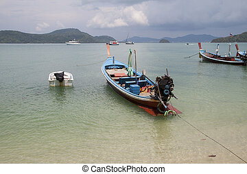 Thai traditional wooden boat