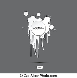 Abstract vector of Dripping Paint,