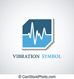 vector abstract stylized vibration icon