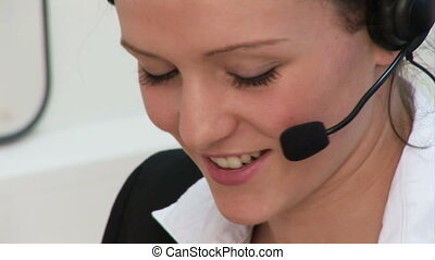 Woman working in Office - 4 - HD Footage of a Business woman...