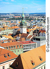 Brno old town - Cityscape of Brno city in the sunny day,...