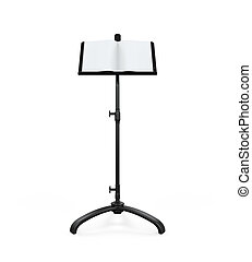 Music Note Stand isolated on white background. 3D render
