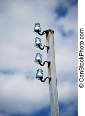 Cordless electric pole - Antique cordless electric pole. Old...