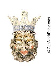 Mask in ceramic