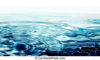 Crystal Clear Blue Water - Crystal clear water ripples on...