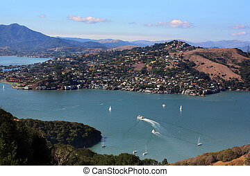 Bay Area - Aerial view at Bay Area California