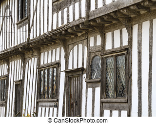 Tudor style - Old english timber-framed Tudor house in the...