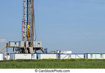 oil drilling rig with Top Drive system
