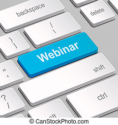 webinar concept with computer keyboard - message on keyboard...