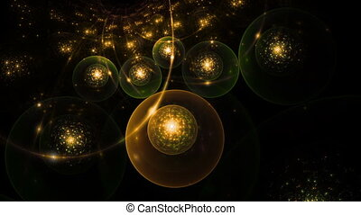 Golden Holiday Lights - abstract golden sparkling holiday...