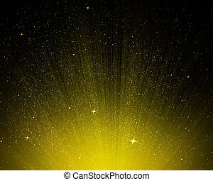Stars and yellow night sky as background