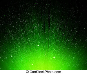Stars and green night sky as background