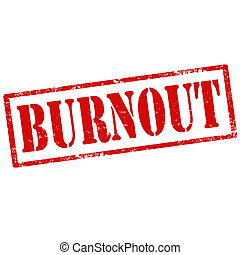 Burnout-stamp - Grunge rubber stamp with text Burnout,vector...