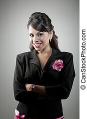 Portait of young Latina businesswoman