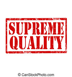 Supreme Quality-stamp - Grunge rubber stamp with text...