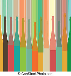 colorful bottle on background - Background with bottles...