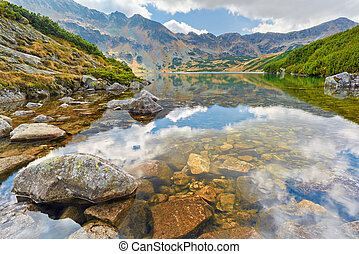 The High Tatras. Five Polish Ponds Valley. Carpathians. -...