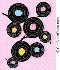 liquorice spirals - an illustration of classic liquorice...