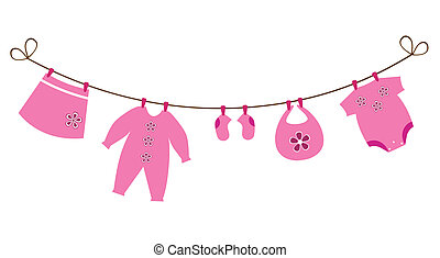 Baby Clothes - vector newborn baby clothes
