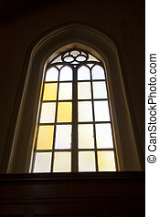 church window seen from the inside
