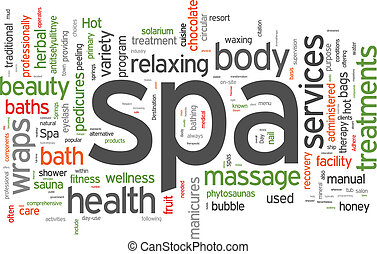 Spa word cloud vector illustration on white