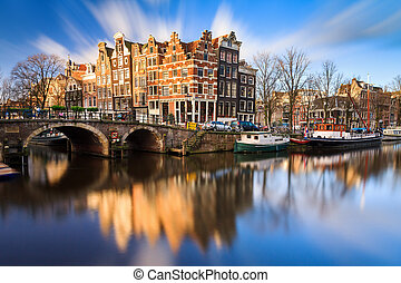 Brouwersgracht Amsterdam - Beautiful image of the UNESCO...