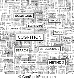 COGNITION Seamless pattern Word cloud illustration
