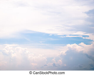 clound - cloud in the blue sky abstract background
