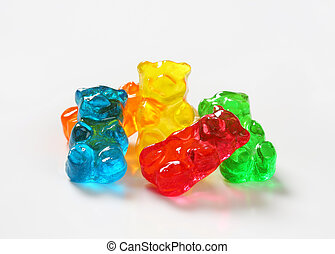 Gummy bears - Fruit flavored gummy bears in assorted colors