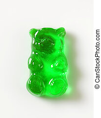 Green Gummy bear - Green apple gummy bear candy