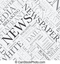 News word tag cloud vector texture background