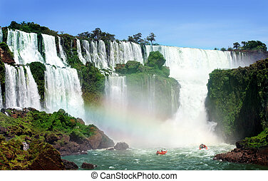 Waterfall - Iguazu Falls was short-listed as a candidate to...