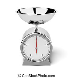 kitchen scales  isolated on a white background. 3d render