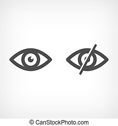 Eye iconn - open and scored