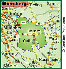 Map of ebersberg