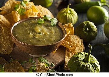 casero, Salsa, Verde, cilantro