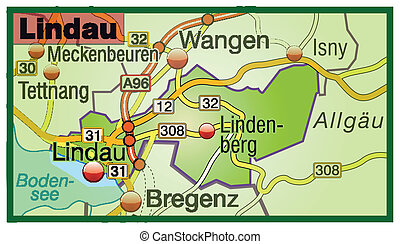 Map of lindau