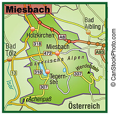 Map of miesenbach