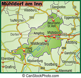 Map of Muehldorf