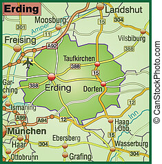 Map of erding